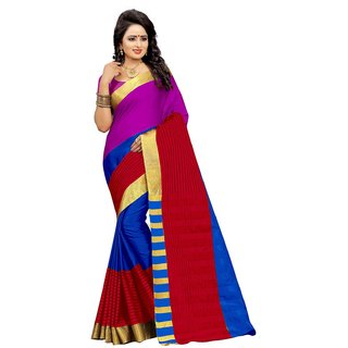The Shopoholic Multicolor Women Silk Sarees New