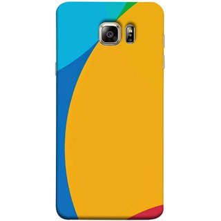 FUSON Designer Back Case Cover for Samsung Galaxy S6 G920I :: Samsung Galaxy S6 G9200 G9208 G9208/Ss G9209 G920A G920F G920Fd G920S G920T ( Large Medium Circles Orange Yellow Red Blue Grey)