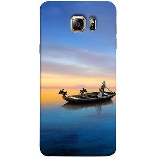 FUSON Designer Back Case Cover for Samsung Galaxy S6 Edge :: Samsung Galaxy S6 Edge G925 :: Samsung Galaxy S6 Edge G925I G9250  G925A G925F G925Fq G925K G925L  G925S G925T (Water Sea Sky Beautiful Boat Cruise Horizon )