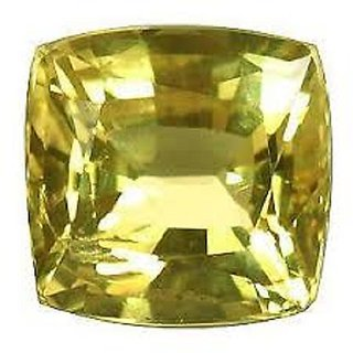 7.50 carat 100 AAA rated yellow sapphire by lab certified