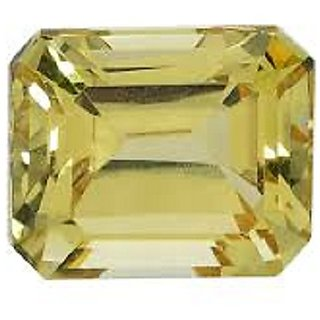 7.75 carat 100 AAA+++ quality yellow sapphire by lab certified