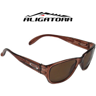 Aligatorr Dark Brown 570 Stylish Unisex UV400 Sunglass