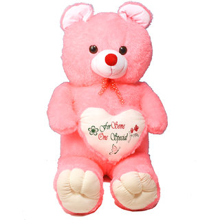 buy stuffed toy 4 5 feet with heart soft and cute teddy bear pink