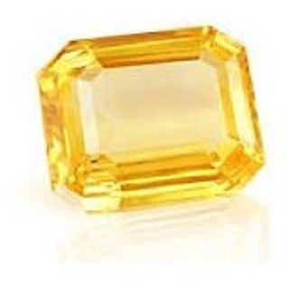 yellow sapphire (pukhraj) top quality gem natural stone 6 ratti gemstone