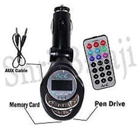Sonilex Car Mp3 Fm Modulator With Remote, Aux Cable.