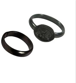Unisex SK1 Astro Guruji Shani Dosha Niwaran Iron Black Horse Shoe Iron Ring