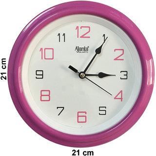 Ajanta Pink Analog Wall Clock 2147P