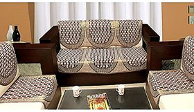 HomeStore-YEP Home 6 Piece Cotton Sofa and Chair Cover Set - Maroon