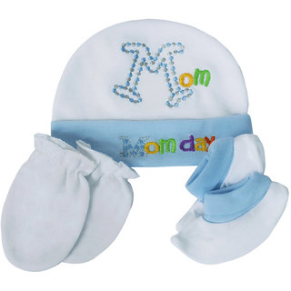 69a69ee6160 Buy Visach blue cap and accessories combo set for new born baby Online    ₹449 from ShopClues