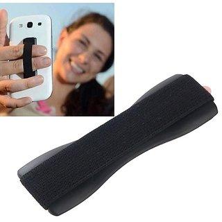 KSJ Finger Grip Universal Anti-Slip Handheld Finger Strap Holder, for SmartPhone Small Tablet  All iPhone - Black