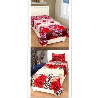 K Decor Set of 2 Single Bedsheet