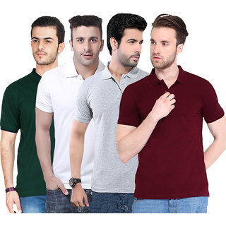 Concepts MultiColor Pack of 4 Polo Neck Tshirt