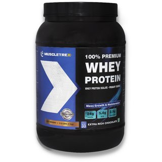 Muscletrex 100 Whey Protein Chocolate Flavour - 1 Kg 2.2 Lbs