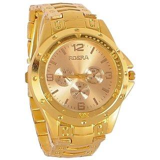 Buy BEST ROSRA GOLD WATCH FOR MEN,BOYS. Online - Get 87% Off