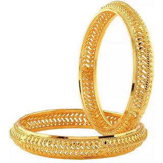 Chrishan Gold Plated Marvelous Fashionable Stylish Golden Bangle Set For Women.
