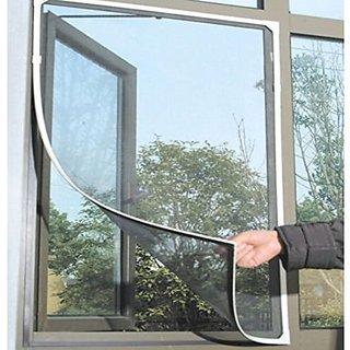 Shahji Creation Fiber Mosquito Net For Steel Framed Windows Insect Fly Bug Mesh Screen- Valcro Model