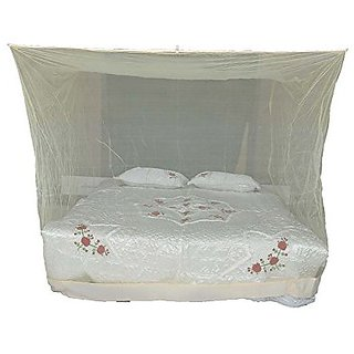 Shahji Creation mosquito net Heavy quality HDPE Net (8X7 Ft XL Size) Ivory color hellip