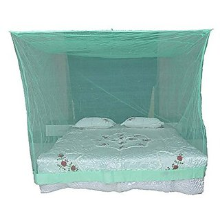Shahji Creation Polyester King Size Bed Green HDPE 6X7 Feet Mosquito Net