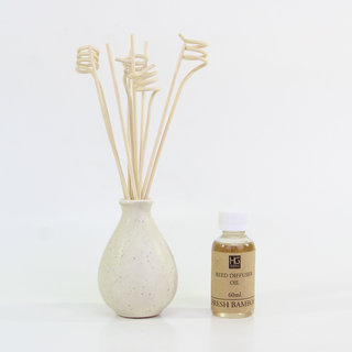 Fresh Bamboo Ceramic Reed Diffuser with Oil