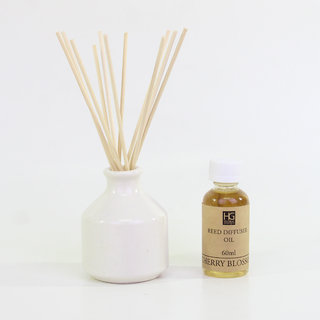Cherry Blossoms Reed Diffuser with Oil  Plain Reeds