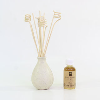 Cherry Blossom Ceramic Reed Diffuser with Oil