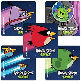 Angry Birds Space Game - 75 Party Stickers