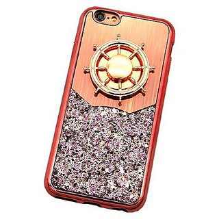 Iphone 7Plus rose gold glitter case with fidget spinner