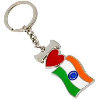 Buy Faynci The theme of Every Indian Mind- I LOVE INDIA Tricolor High  Quality Stainless Steel Key Chain Online - Get 30% Off c9ec74393