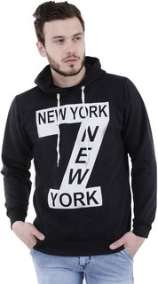 Trendyz Men's Black Hooded SweatShirt