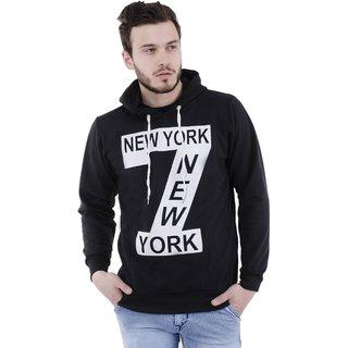 Trendyz Men's Black Hooded SweatShirt Winterwear