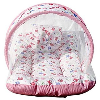 Shahji Creation Baby Mattress with Mosquito Net