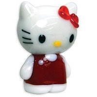 Looking Glass Hello Kitty Red Dress Glass World Toy Fig
