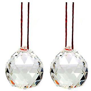 Astro Guruji 2 piece Original Hanging Feng Shui Crystal Ball