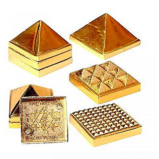 Astro Guruji Vastu Pyramids Small Golden