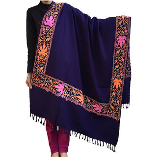 Womens Side Border Aari Work Shawl Exactly As Shown-Branded Product
