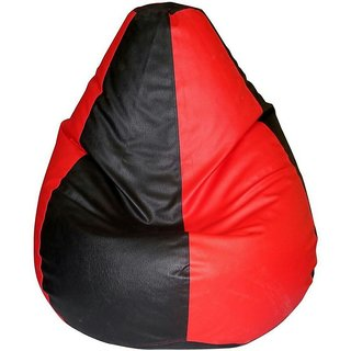 CALIPH RED BLACK BEAN BAG( L SIZE ) - Beans Not Included ( Covers Only )