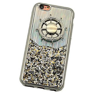 Iphone 7Plus Silver glitter case with fidget spinner