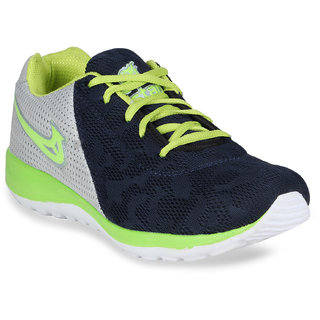 Bostan Navy and Green Sports Shoes