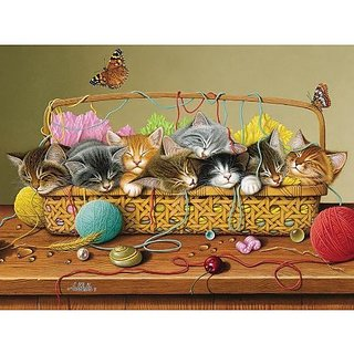 Cobble Hill Basket Case Jigsaw Puzzle, 400-Piece