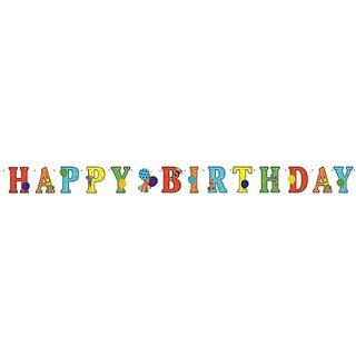 "Amscan Birthday Horns & Balloons Letter Banner, Multicolored, 4 1/4"""