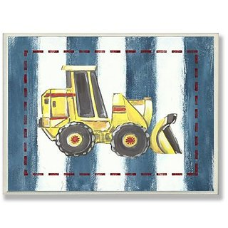 The Kids Room By Stupell Car Blue Stripes Designer Prints And Wall Art For Kids Room
