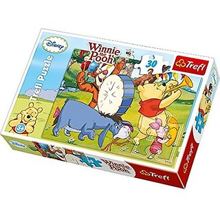 It is swinging in Winnie the Pooh and his friends