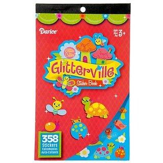 WeGlow International Glitterville Sticker Books, Set of 4