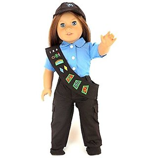"18"" Girl Scouts Brownie Pant Outfit Costume Set for Dolls. - Fits 18"" American Girl Dolls, Gotz, Our"