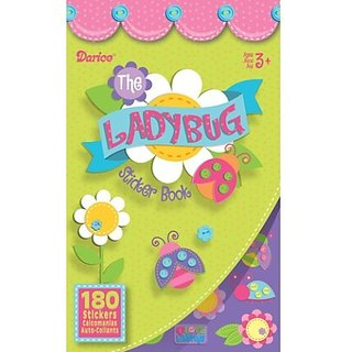 WeGlow International Lady Bug Sticker Books, Set of 4