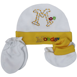 e8159becddf Buy Visach yellow cap and accessories combo set for new born baby Online    ₹449 from ShopClues