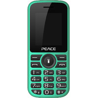 Peace P4 Feature Mobile Phone-Green+Black (Dual SIM/ 85