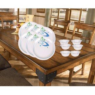 PALMS Signature Dinner set Pack of 12 Printed Plates & Veg Bowl Premium Quality Melamine- (Microwave safe Food grade safe Stain proof)