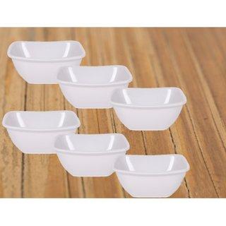 PALM'S Noble Pack of 6 Veg Bowl set Premium Quality Melamine- (Microwave safe, Food grade safe, Stain proof)