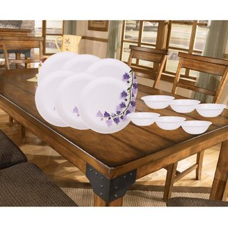 PALMS Khushi Dinner set Pack of 12 Printed Plates Veg Bowl High Quality Melamine- (Food grade safe Stain proof)